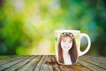Printing photo on the cup online effect