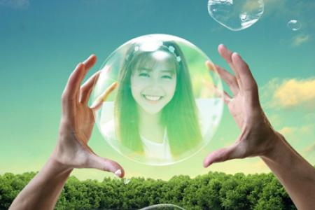 Bubble photo effect