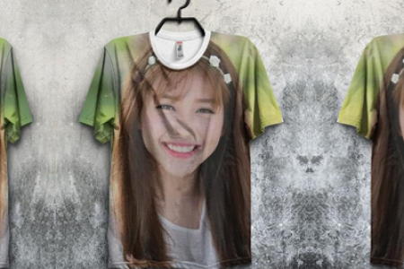 Print photo up T-shirt