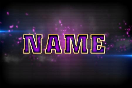Purple text effect online