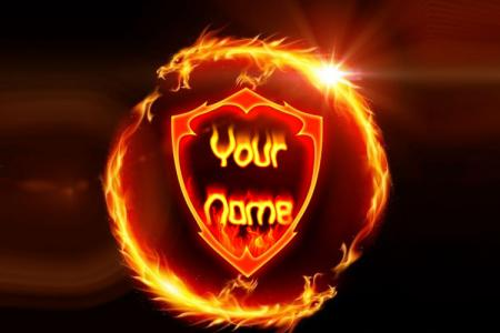 Dragon Fire Text effect