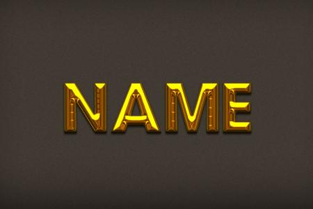 Beautiful gold text effect