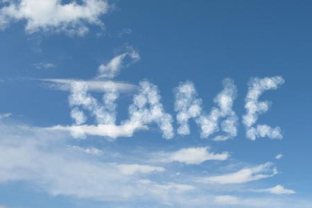Cloud text effect