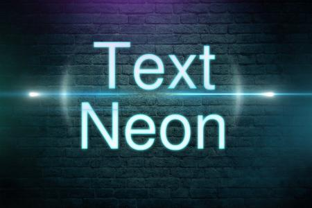 Neon Text Effect Light