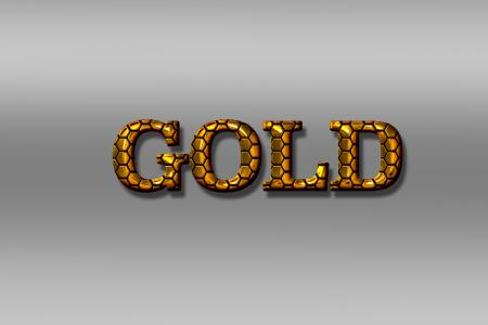 Gold Text Effect style
