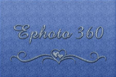 Text Effect on Jean Fabric