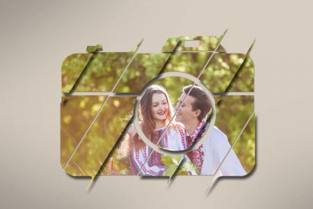 Photo Frame Artistic Camera