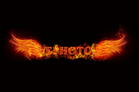Flame lettering effect