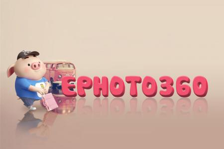 Lovely cute 3D text effect with pig