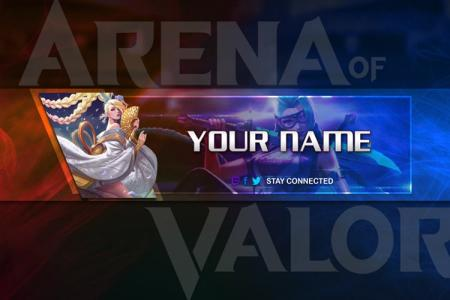 Create Youtube banner for the AOV, ROV  game