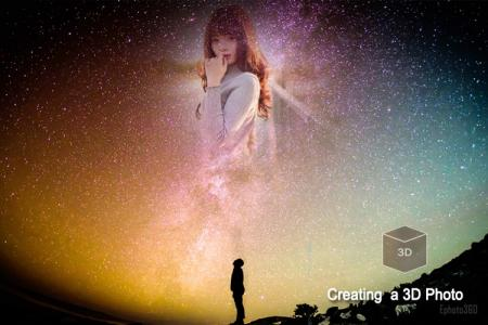 Create 3D night sky photo frames for facebook