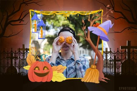 Create avatar halloween border frame