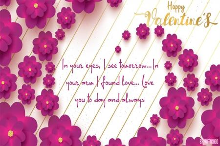 Beautiful Flower Valentine's Day Greeting Cards Online
