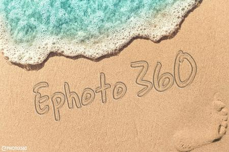 Create a summery sand writing text effect