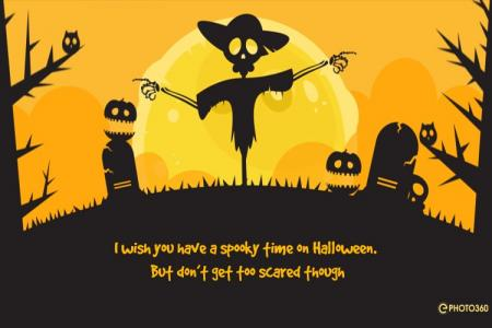 Funny Halloween video greeting card online