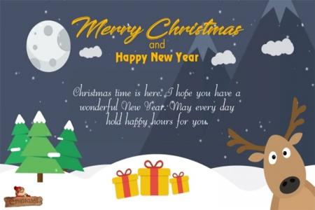 Christmas and new year greeting card video online