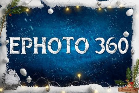 Christmas snow text effect online