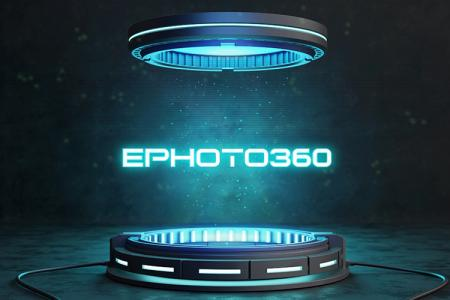 Light text effect futuristic technology style