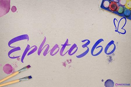 Create a watercolor text effect online