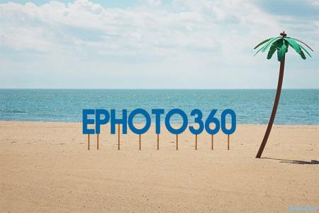 Create 3D text effect on the beach online