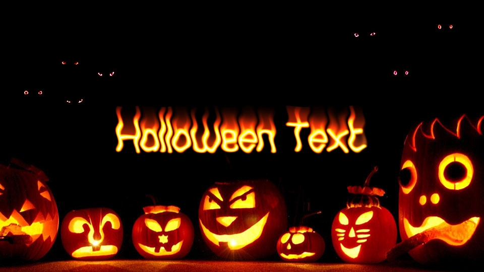 Halloween fire text online