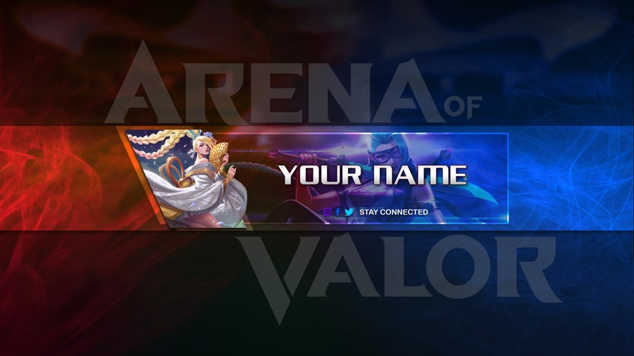 Create Youtube Banner For The Aov Rov Game