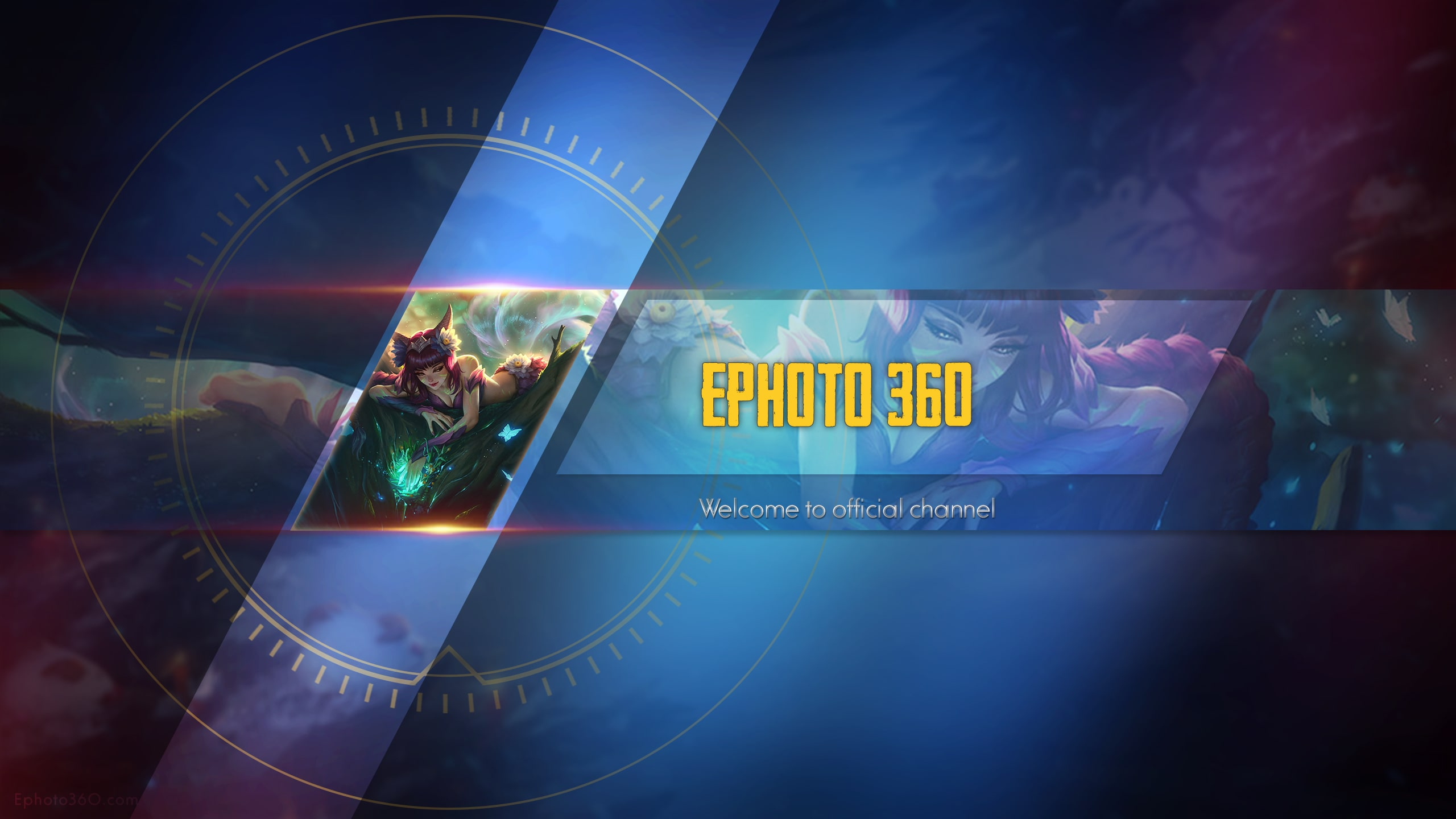Create Youtube Banner League Of Legends Online