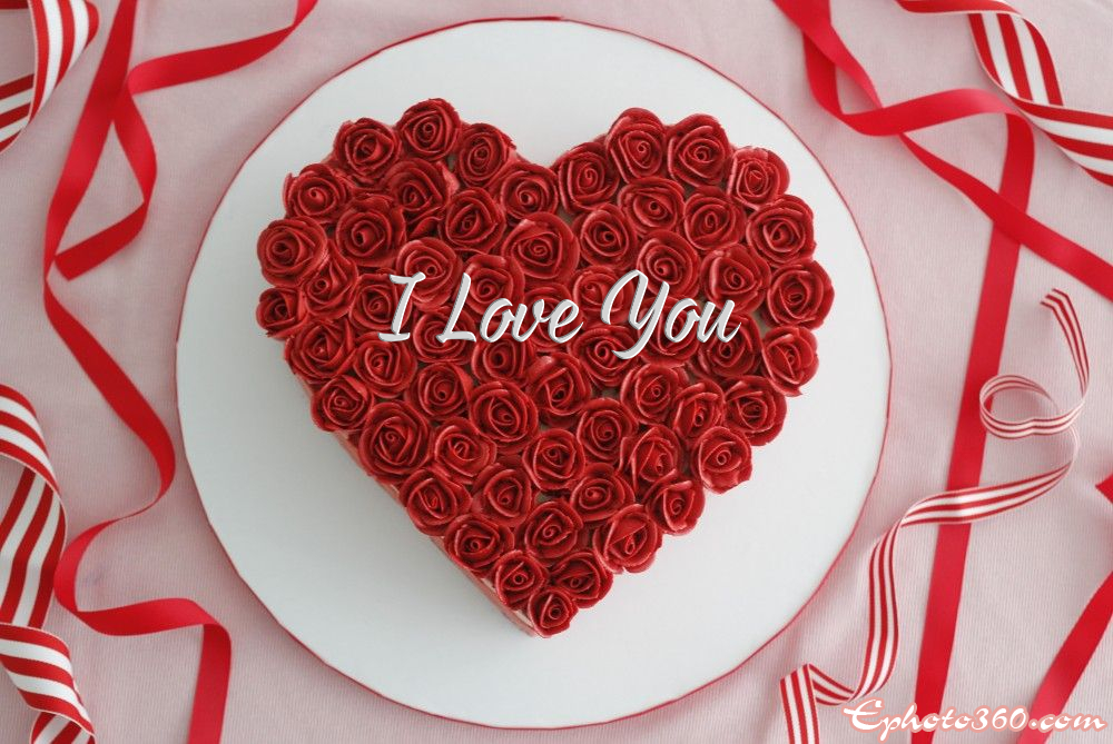 Pleasant Heart Shaped Rose Birthday Cake With Name Edit Funny Birthday Cards Online Inifofree Goldxyz