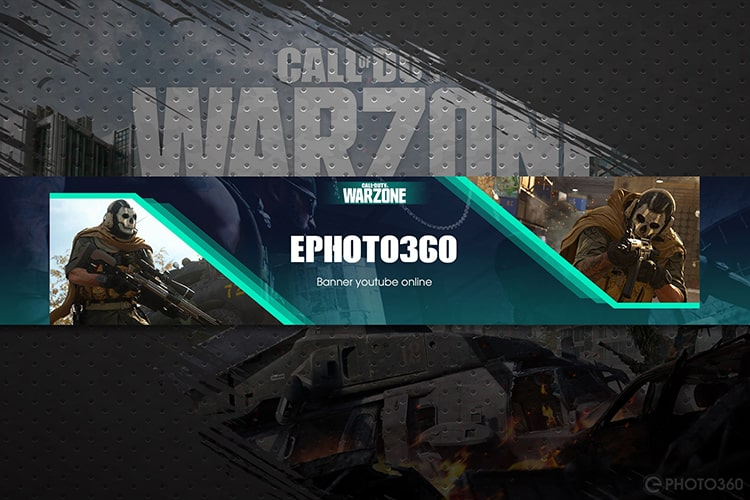 Create Call of Duty Warzone YouTube Banner Online