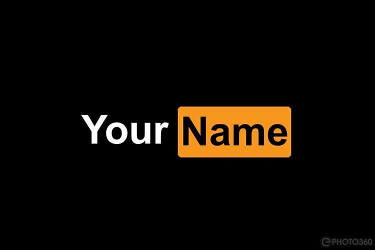Create PornHub style logos online free