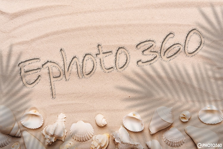 Realistic 3D sand text effect online