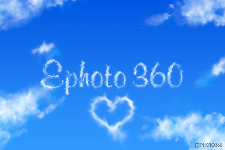 Create realistic cloud text effect