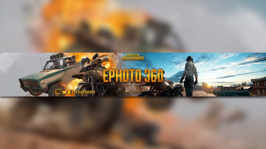 Create A Youtube Banner Game Of Pubg Cool